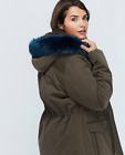 fur trimmed hooded parka -  NWT - Lane Bryant Faux Fur Trimmed Hooded Jacket Coat Parka - 1X 2X 14/16 18/20