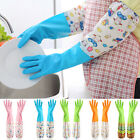IM- 1Pair Housework Dish Washing Up Cleaning Waterproof Long Sleeve Gloves Hot