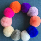 1PCS Rabbit Fur Ball Cell Phone Keychain Handbag Key Ring PomPom Hanging Buckle