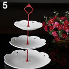 EP  3 Tier Hardware Crown Cake Plate Stand Handle Wedding Party Table Decor Reli