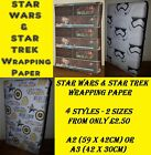 Exclusive STAR WARS or STAR TREK Wrapping Paper - Birthday Party Stormtrooper!!