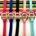 5PCS Fashion Accessories Ladies Leather Chain M @ K LetterBangle Gold Bracelet