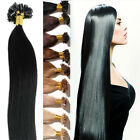 Pre Bonded Russian U Nail Tip Keratin Remy Human Hair Extensions Straight GY362