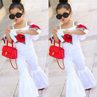 US Kids Baby Girls Off shoulder Floral Romper Jumpsuits Trousers Outfits Clothes