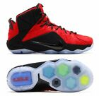 "NEW Nike LeBron 12 EXT ""Red Paisley"" Men Shoes, Red/Black/Gold, 748861-600"