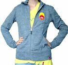 Внешний вид - Peace Love World Oprah Life You Want Weekend Lightweight Zip Spring Hoodie Gray