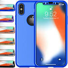 For iPhone X 360° Full Body Protection Shockproof Case Cover+Tempered Glass Film  iphone x cases 360 protection 2227549087614040 1