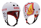 Внешний вид - S&M BIKES FULL CUT PRO-TEC HELMET WHITE CERTIFIED SHIELD BMX BIKE PROTEC