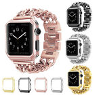 Stainless Steel Wrist iWatch Band Strap +Case Cover For Apple Watch Series 3/2/1 image