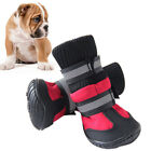 US 4pcs Pet Dog Winter Rain Boots Shoes Puppy Warm Anti-Slip Waterproof Booties