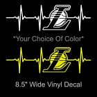Los Angeles Lakers Heartbeat White or Yellow Decal 8.5 Inch Decal Sticker Kobe on eBay