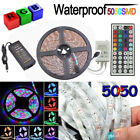5M RGB 5050 SMD 300 Leds Strip LED Flexible Light 12V Remote Power Supply LOT US