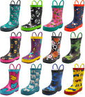 Norty Toddlers Kids Boys Girls Waterproof Rubber Printed Rain Boots -13 Patterns