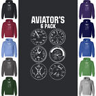 AVIATOR'S 6 PACK Hoodie Sweatshirt Aircraft Plane Drone Army Navy Air Force Gift