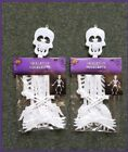 Halloween Hanging Posable 3 ft Skeletons Glows at night Wall Door Decor