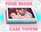 YOUR EDIBLE CAKE IMAGE PHOTO LOGO CUSTOM Cake Topper Frosting Sheet Personalized