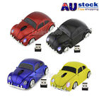Gift USB 2.4Ghz VW Beetle Car Wireless Mouse Optical Gaming Mice Beatles Bug AU