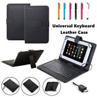 US Leather Stand Case Cover Micro USB Keyboard For 7