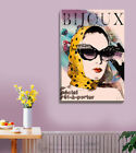 BIJOUX Stretched Canvas Print Framed Wall Fine Art Hanging Home Office DIY Decor