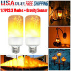 1-2Packs 12W 99LED Burning Flicker Flame Effect Fire Light Bulb E27 Decor Lamp