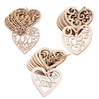 Внешний вид - 10PCS Laser Cut Decorative Love Heart Wooden Shape Craft Wedding Embellishment