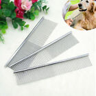 Stainless Steel Pet Puppy Dog Cat Comb Long Hair Shedding Grooming Flea Comb SML