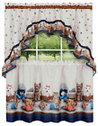 Adorable Puppies & Kittens Kitchen Curtain Tier & Swag Set - Assorted Sizes