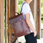 New Classic Style Leather Backpack for Men and Women Synthetic Leather Schoolbag