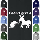I DON'T GIVE A RATS A** Hoodie Sweatshirt College Frat Fraternity Animal Humor