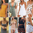 Fashion Women Short Sleeve Bodycon Casual Party Evening Cocktail Mini Dress Lot
