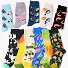 Mens Fashion Cotton Socks Colorful Novelty Plant Sea Animal Pattern Dress Socks