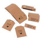 Внешний вид - 100Pcs Kraft Paper Handmade with Love Tags Craft Party Blank Card Wedding Decor