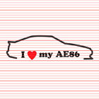 I Love My AE86 Decal Sticker JDM Heart Tuner Toyota Corolla hachiroku gt86 drift