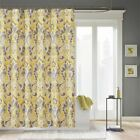 "Luxury Yellow & Grey Large Ikat Design Fabric Shower Curtain - 72"" x 72"""