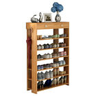 Shoe Racks 7 Tiers Multi-function Economy Storage Rack Solid Wood Standing Shelf