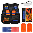 Darts wear - Tactical Vest Suit Set for Nerf Gun N-strike Elite Dart Refill Bullets w/ Glass