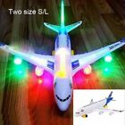 1PC Moving Flashing Plane Light Sounds Musical Electric Airplane Airbus Toy S/L