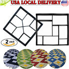 DIY Driveway Paving Pavement Stone Mold Concrete Stepping Pathmate Mould Paver image