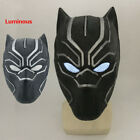 Black Panther Luminous Eyes Mask Full Head Masks Latex Halloween Props Cosplay