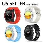 Bluetooth Smart Watch For IOS & Android Pedometer Camera Text Call Touch Screen