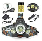 2400LM T6 3 LED HeadLamp Waterproof Head Light Fishing Torch Flashlight