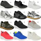 Ladies Running Gym Trainers Womens Lace Up Flat Comfy Fitness Sports Shoes Size