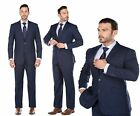 Men's Formal Prom Wedding Party Business Fashion Blue Suit Classic / Slim Fit
