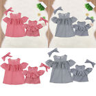 Mother And Daughter Matched Off Shoulder Women Blouse Tops Toddler Baby Clothes