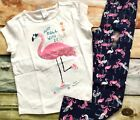 Gymboree Mix N Match Just Roll With It Skate Top Flamingo Leggings NWT Outlet
