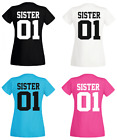 Pärchen Damen T Shirt - SISTER 01 - Best Friends  Partner  Freundinnen Familie