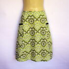 Green Retro Floral Print A Line Skirt - ladies sizes 8 - 18 avail, vintage daisy