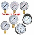New Water and Air Pressure Gauge New 1/4 Brass Thread 0-15 PSI 0-1 Bar EF