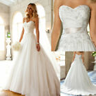 New White/Ivory Sweetheart Ball Gown Wedding Dress Stock Size 6-8-10-12-14-16