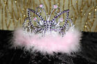 GIRLS PRINCESS TIARA/CROWN -DRESSING UP/PINK  OR PURPLE TRIM WITH BUTTERFLY